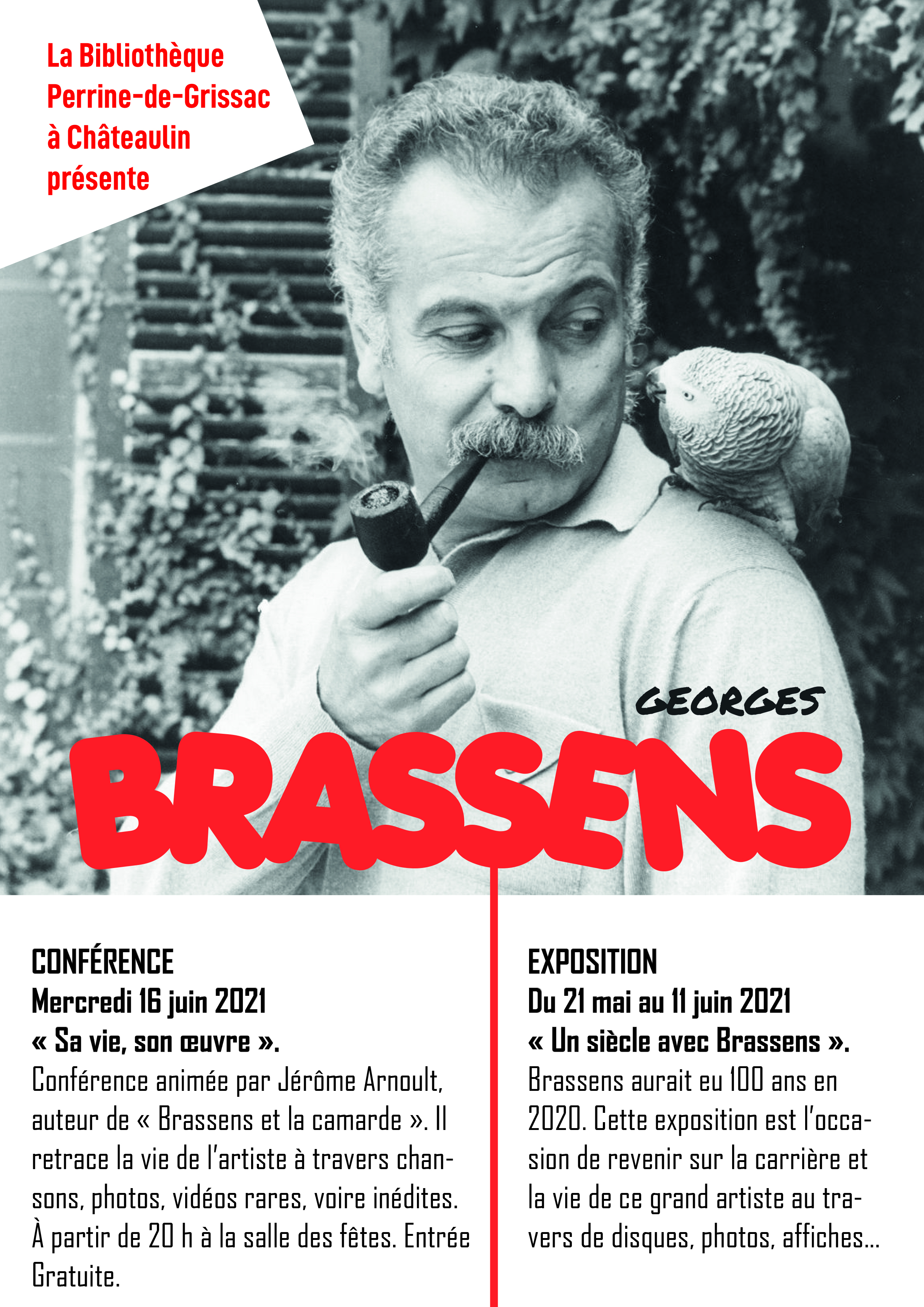 """Conférence """"Georges Brassens, sa vie, son oeuvre"""""""