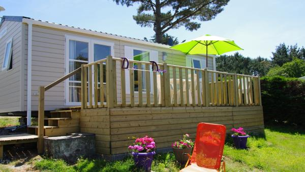 Mobil-home 2 chambres 4/6 pers Lodge 77 - Camping de Gouelet Ker